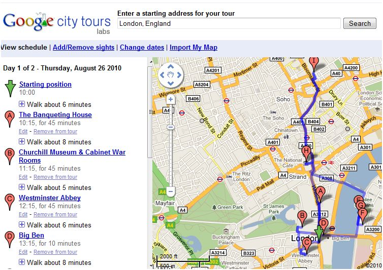 Googlecitytours