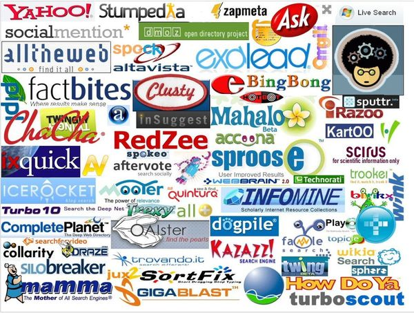 Phil Bradley's Weblog: 100 Search Engines Logos Image For