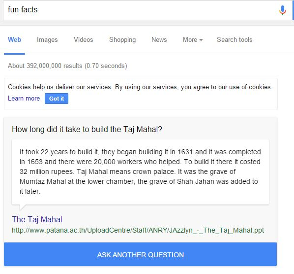 Googlefunfacts